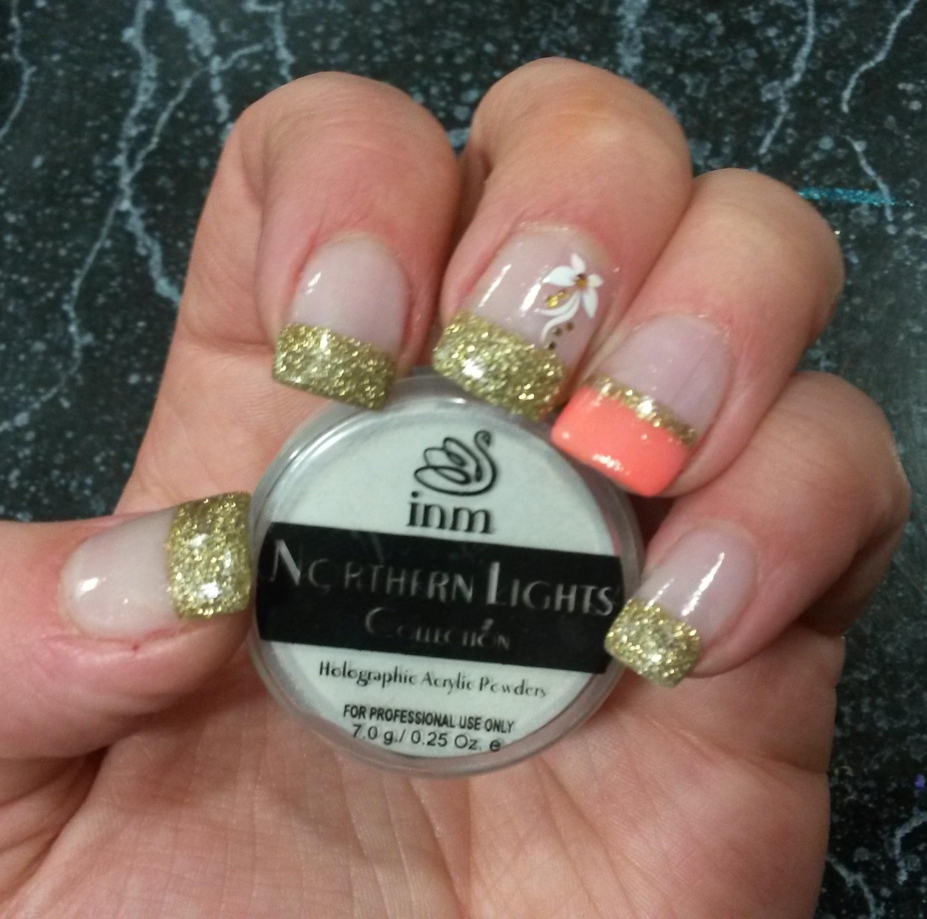 Northern Lights Gold Powder Nailx