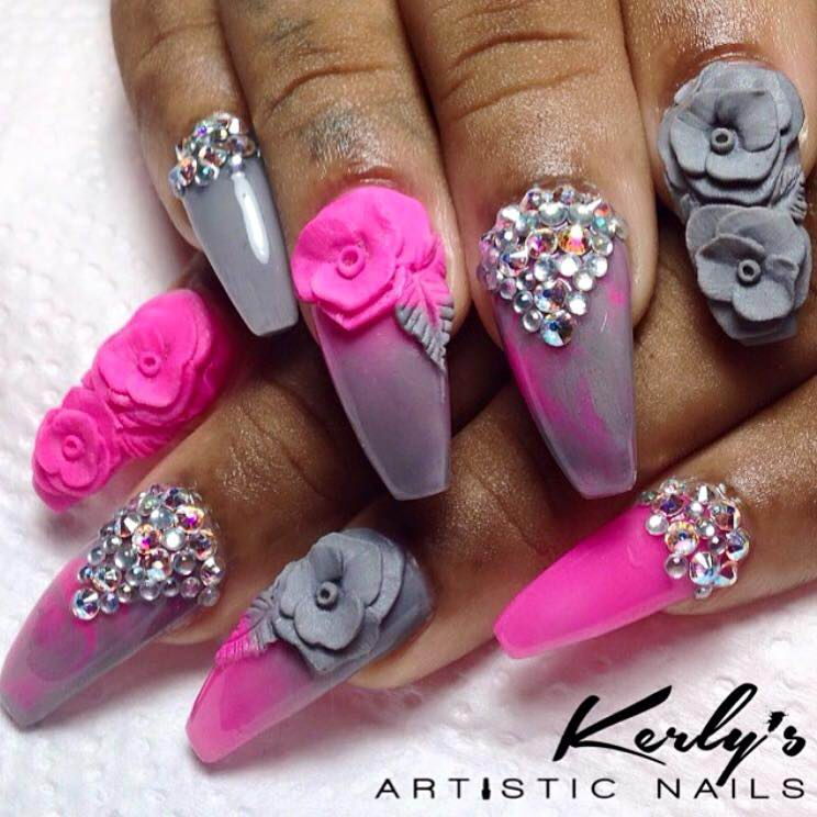 Pink And Purple Nail Mix Pictures, Photos, and Images for ...  Purple And Pink Nails