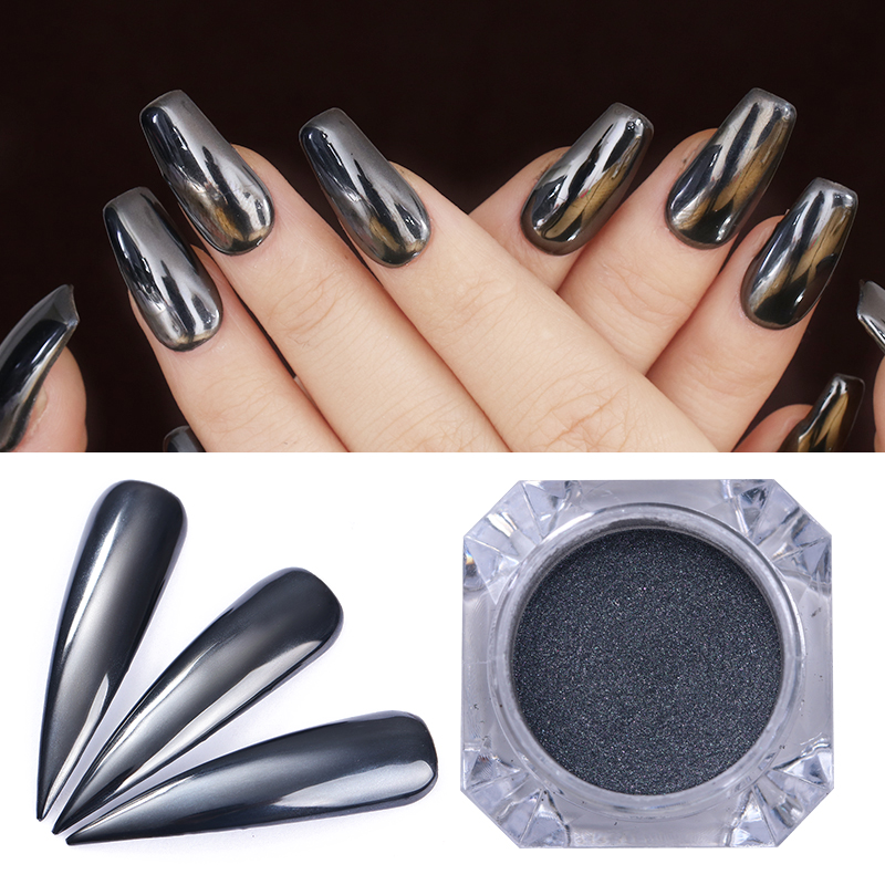 67da5dbae92e Mirror Black .5g - Nailx