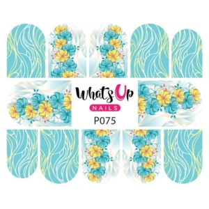 floral strands water decals